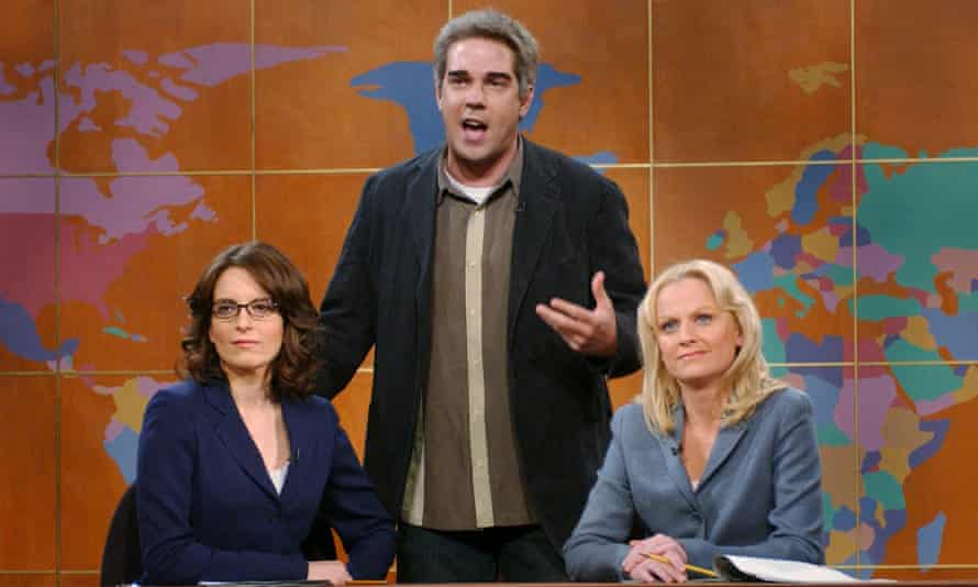 The larks ascending ... Sudeikis with Tina Feye and Amy Poehler on Saturday Night Live.