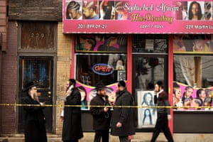 Nearby the scene of the JC Kosher Supermarket shooting. Jewish leaders have labeled it a hate crime.