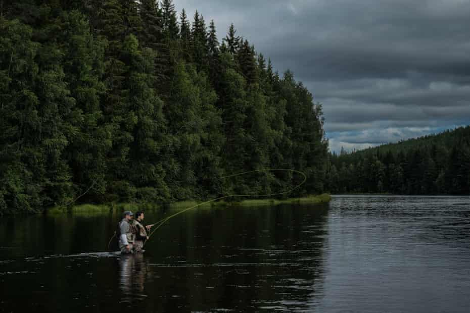"""Alvdalen, Sweden: """"Once you start [flyfishing],"""" says Giulio,"""" you never stop."""""""