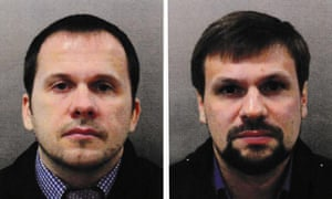 Photos issued by the Metropolitan police of Alexander Petrov and Ruslan Boshirov.