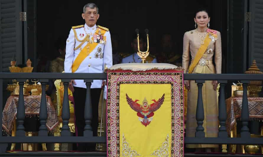 Vajiralongkorn and Suthida grant a public audience on the final day of his royal coronation in Bangkok