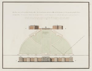 James Tilly Matthews, Architectural Plans and Explanatory Notes for a new Bethlem Hospital, 1810-11In 1810, Bethlem launched a public competition to design a new hospital building, and James Tilly Matthews, confined there since 1797, offered up his own suggestions. In notes alongside his designs, he argues that inmates should be able to grow vegetables, look after the sick and help with chores