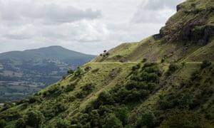 Craig y Cilau, a limestone escarpment in the Black Mountains