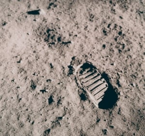 Footprints of an astronaut on the moon, July 16-24, 1969