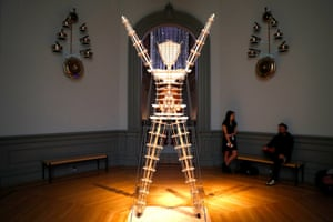 No Spectators: The Art of Burning Man opens at Smithsonian American Art Museum Renwick Galleryepa06635939 Model of the Man on display in the No Spectators: The Art of Burning Man exhibit at the Smithsonian American Art Museum Renwick Gallery in Washington, DC, USA, 29 March 2018. Artwork created at Burning Man, the annual desert gathering that is one of the most influential events in contemporary art and culture, is being exhibited in the nation's capital for the first time. EPA/SHAWN THEW