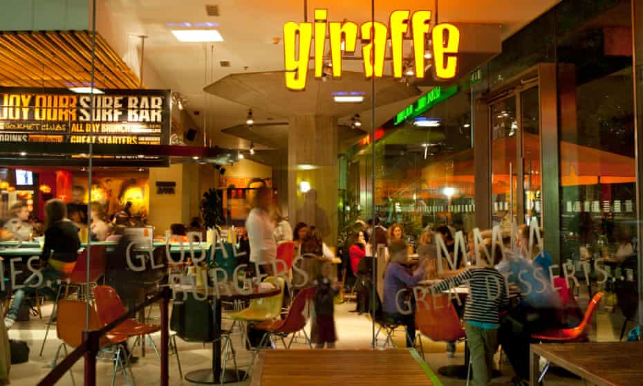 Giraffe has about 60 outlets in the UK.