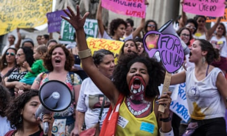 Women demonstrate for an end to the criminalisation of abortions in Brazil in November.