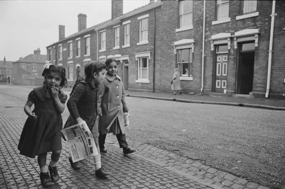 Children in Smethwick, December 1964, when the Conservative candidate won the seat with a racist campaign slogan