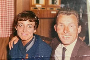 Barbara Ball and Martin Ball on an evening out in Jersey circa 1967.
