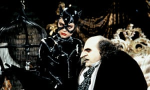 Michell Pfeifer as Catwoman and Danny DeVito as Penguin in Batman Returns (1992).