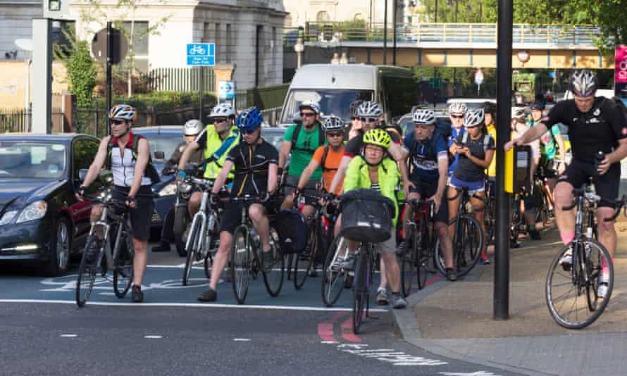 Cyclists in Kensington.