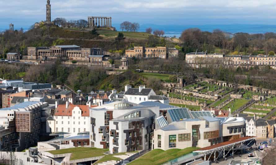 The Scottish parliament building at Holyrood, Edinburgh.