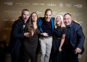 Yotam Ottolenghi with Outstanding Achievement winners Refugee Community Kitchen
