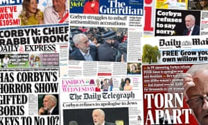 The UK papers after Jeremy Corbyn's interview with Andrew Neil in which he resisted calls to apologise for allegations about antisemitism in the Labour party.