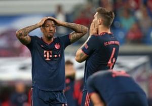 Jérôme Boaten and Niklas Süle wonder how Bayern failed to beat Leipzig.