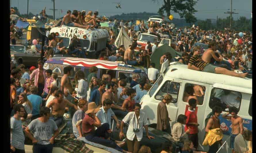 Crowds at Woodstock in 1969.