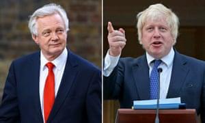 Brexit secretary David Davis, left, and foreign secretary Boris Johnson
