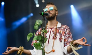 Bast of Crystal Fighters performs at the Lollapalooza Berlin festival.