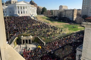 Thousands of pro-gun supporters at the rally gather to oppose gun-control legislation