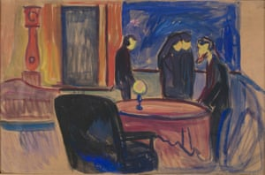 Fascinating surprise … Munch's set design for Ibsen's Ghosts.