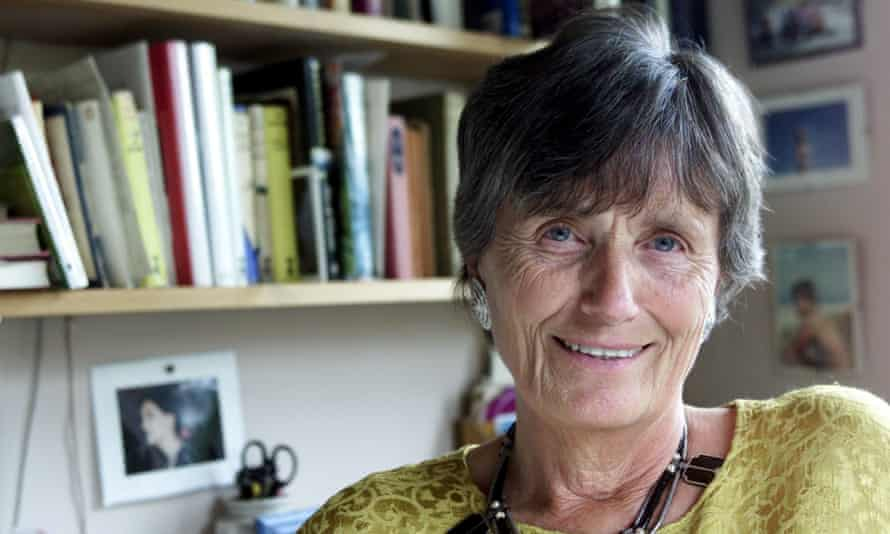 Margaret Forster, pictured at home in 2001.