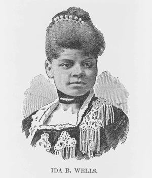 A portrait of Ida B Wells from 1891.