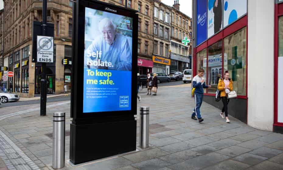 A digital billboard in Bradford city centre warns the public about keeping safe.