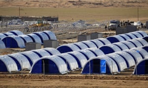 A newly built refugee camp south of Mosul