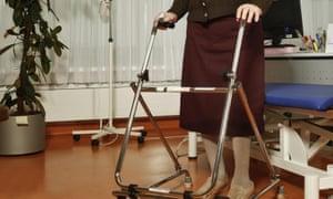woman using a walker
