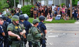 Tensions have been high in Baton Rouge, with protests following the killing of Alton Sterling.