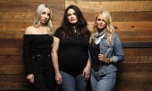 Telling it like it is … Ashley Monroe, Angaleena Presley and Miranda Lambert of Pistol Annies.