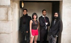 The Ska Vengers assemble ... (from left) Chaitanya Bhalla, Samara Chopra, Taru Dalmia and Nikhil Vasudevan.