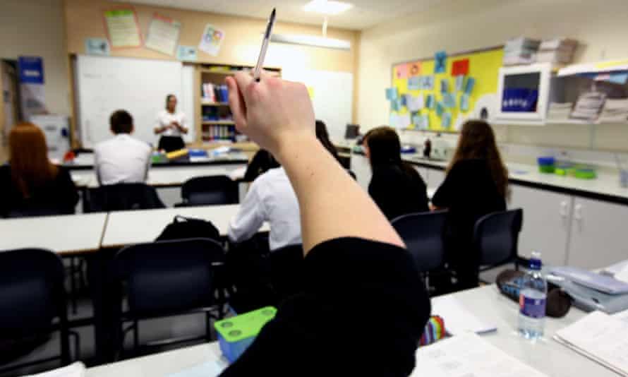 Pupils attend a biology class