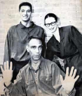 Keith Collins, left, with Derek Jarman and Tilda Swinton