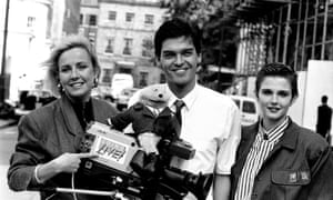 Phillip Schofield with, left to right, Sarah Greene, the puppet 'Gordon the Gopher' and fashion expert Annabel Giles.