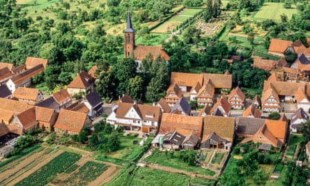Aerial view of Hunspach