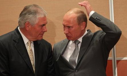 Vladimir Putin and Rex Tillerson