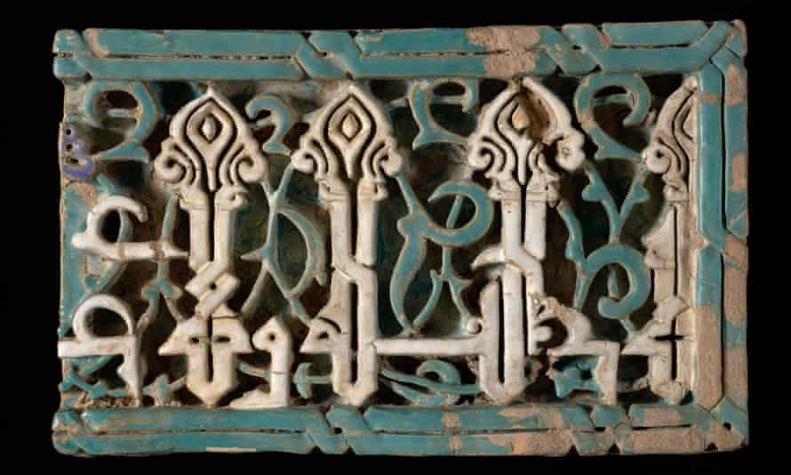 Six medieval Uzbek tiles, smuggled in to Heathrow in a suitcase: planned display and repatriation