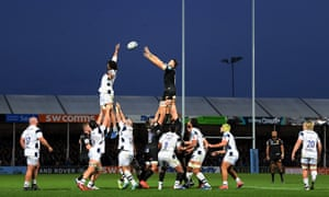 Jonny Hill of Exeter wins the ball in the lineout during the Premiership defeat to Bristol last Sunday.