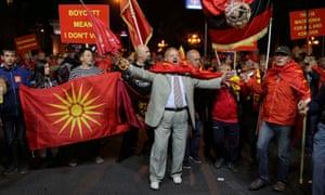 Macedonia protesters