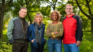 Chris Packham with his Springwatch colleagues Michaela Strachan, Gillian Burke and Iolo Williams