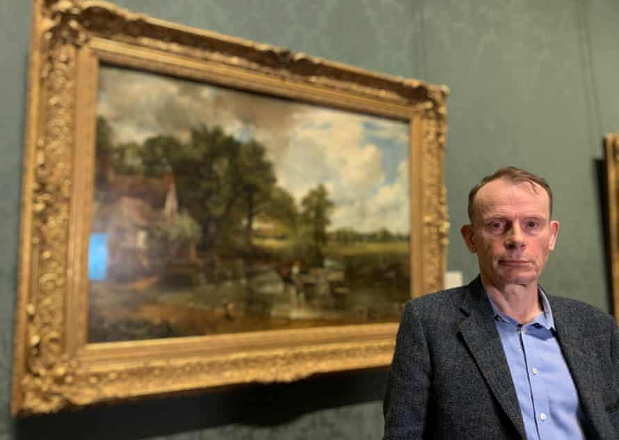 Andrew Marr with Constable's The Hay Wain