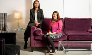 Gina Miller, left, and Tulip Siddiq