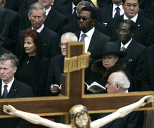 2005Despite a travel ban issued by the European Union in 2002, Mugabe managed to attend the funeral of Pope John Paul II in Rome