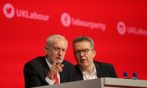 Jeremy Coryn and his deputy Tom Watson at the Labour conference in Liverpool.
