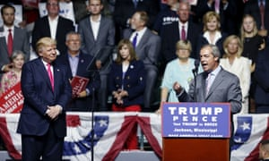 Nigel Farage campaigns with Donald Trump, August 2016