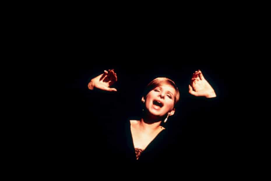 Barbra Streisand as Fanny Brice in Funny Girl.