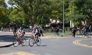 It is unclear why a small, warm and flat city with such a well-connected and safe bicycle network should have halved its cycling modal share since the 1970s.