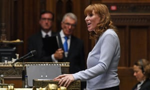 Angela Rayner standing in for Keir Starmer at PMQs on Wednesday,