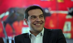 Alexis Tsipras on Monday after Syriza's victory in Sunday's election